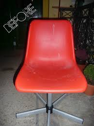 ikea red office chair. Ikea Hacks: Old Office Chair Makeover Red