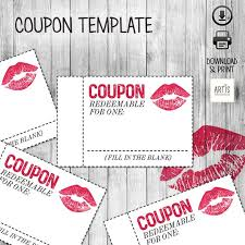 Relationship Coupon Book Printable Coupon Book Digital Paper Coupon Empty Love Etsy