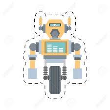 Mechanical Engineering Robots Robotic Mechanical Engineering Rocket Cutting Line Vector Illustration