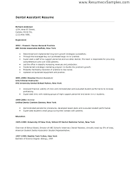 Resume Template For Dental Assistant Best Dental Assistant Resume Samples Sample Of Dentist No Experience
