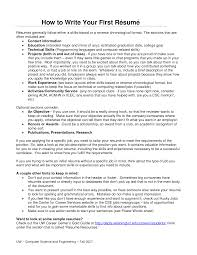 How To Write An It Resume Writing First Resume Ameriforcecallcenterus 13
