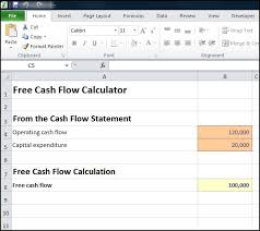 Online Cash Flow Statement Calculator Free Cash Flow Calculator Double Entry Bookkeeping
