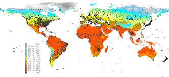 Map Chart World Climate Index Map