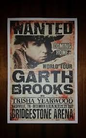Garth Brooks Bridgestone Arena Seating Chart Details About Official Garth Brooks Bridgestone Show Print Nashville Tour Poster 2017 Yearwood