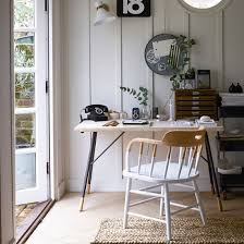 office dining room. Garden Office With White Wood Panelling Dining Room