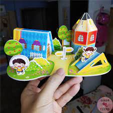 Bộ đồ chơi lắp ghép mô hình 3D bằng giấy đầy khám phá & vui nhộn cho bé từ  4 tuổi - Hình thật 100% - Lắp ghép, Xếp hình Thương hiệu