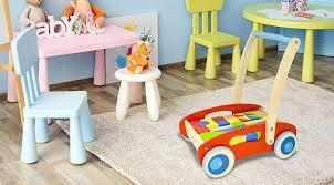 wooden toddler walker wagon