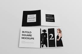 Even if you are a newbie designer, you can download a free brochure mockup and have a preview of the final product ready in close to no time. Free Bi Fold Square Brochure Mockup Creativetacos