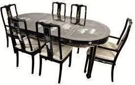 oriental dining room furniture. Asian Black Lacquer Dining Table Oriental Dining Room Furniture Oriental Furnishings