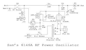 various schematics and diagrams schematic in gif format sam s 6146a rf power oscillator