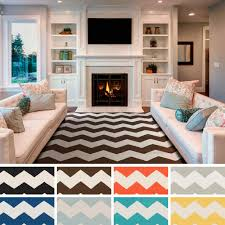 Striped Rug In Living Room Flooring Awesome Striped Chevron Area Rug With Beige Sofa And