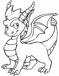 Top 25 dragon coloring pages for preschoolers: Baby Dragon Coloring Pages Coloring Rocks