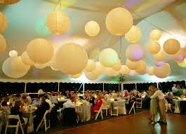 Add Light Accents To Your Wedding WItht Sky Or Hanging Paper Paper Lanterns Wedding