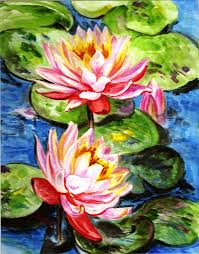 famous paintings water lilies water lilies painting by harsh malik water lilies fine art