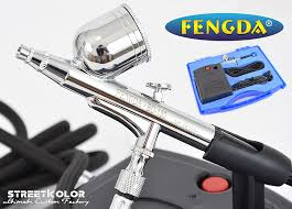 Airbrush Sada S Kompresorem Fengda Bd 831 A Airbrush Pistolí Bd 130 02mm