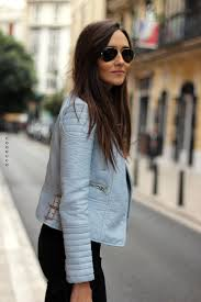 details about zara bnwt blue pastel coloured faux leather zip jacket all sizes