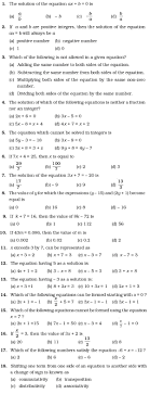 class 7 important questions for maths simple equations