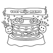 Kleurplaat Verjaardag Moeder At Yyk61 Agneswamu