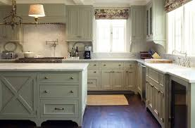 green gray cabinets