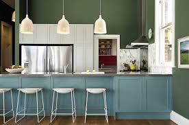painted kitchen cabinet ideas blue paint color green denim small baby decor popular schemes room colour