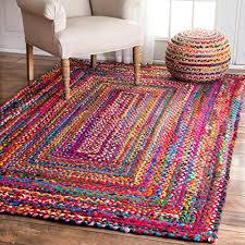 nuloom hand braided tammara cotton area rugs 9 x 12 multi