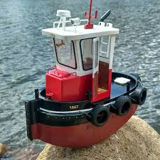 details about diy mini tugboat rescue simulation rc boat 1 18 scale abs wooden model ship kit