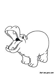 Baby Hippo Coloring Pages Baby Hippo Coloring Pages Printable
