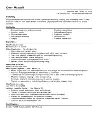 Example Of A Warehouse Resume Collection Of Solutions Resume Objective Examples Warehouse Pics 15