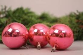 Details Zu Christbaumschmuck Weihnachtskugeln Rosa 3 Stk Alt Deko Alt Set Weihnachten