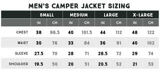 Camper Hooded Jacket Mens Size Chart Coalatree