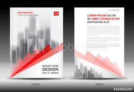 Newspaper Flyer Template Annual Report Brochure Flyer Template Red Cover Design