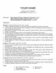 Medical Billing Resume Template Unique Resume Format For Medical Billing Lovely Download Medical Biller