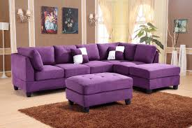 Sofas Center : Excellent Purple Sectional Sofa Photos Design intended for  Eggplant Sectional Sofa (Image