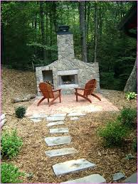 build your own outdoor fireplace large backyard