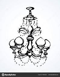 Kronleuchter Vektor Zeichenprogramm Stockvektor Marinka