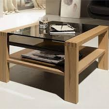 cool wooden coffee table designs with glass top uk