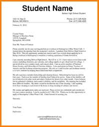 Beautiful Resume Cover Letter Examples For High School Resumes For