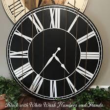 Murale En Bois Horloge En Bois Mur Rustique Grande Horloge En Bois Sur Pinterest Horloge En Bois Horloges Murales Et Murs De