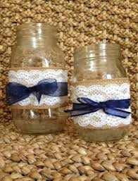 Decorating With Mason Jars And Burlap Burlap Flowers in Jar RUSTIC WEDDING DECORATIONS Burlap And 87