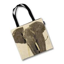 Elephant Designer Bag Grey Elephant Tapestry Tote Bag