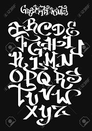 Graffiti Font Free Graffiti Font Alphabet Vector Illustration