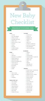 New Baby Checklist What To Get When Expecting Pregnant Chicken