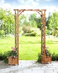 garden arch with planters garden archway wooden garden arch with planters home essentials garden arch planters