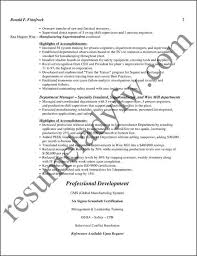 sample documents at resumeladyfw comsample manufacturing supervisor résumé page