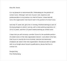 Nurse Reference Letter Best Rn Recommendation Letter Engneeuforicco