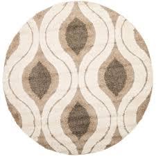 safavieh florida cream smoke 5 ft x 5 ft round area rug