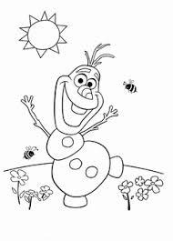 Kleurplaat Elsa Mooi 94 Besten Olaf Eine Schneemännige