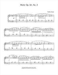chopin spring waltz sheet music waltz op 64 no 2 sheet music by frederic chopin easy piano 38123