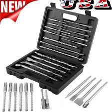 hilti hammer drill bits. 17pcs sds rotary hammer drill bits chisel demo set for hilti dewalt \u0026 milwaukee