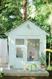 ideas perfect outdoor kids playhouse idea for girl with white wall feat cozy small terrace and